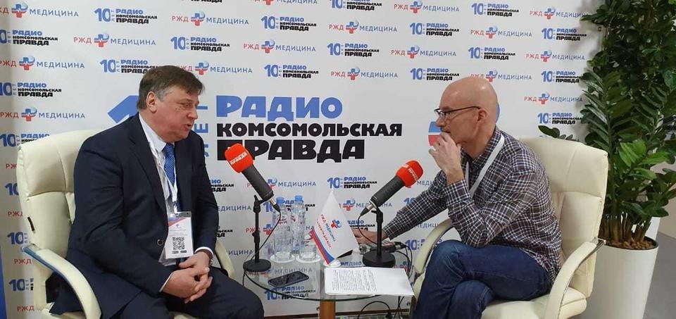 Заместитель генерального директора ОАО РЖД Дмитрий Шаханов в открытой студии Радио «Комсомольская правда».