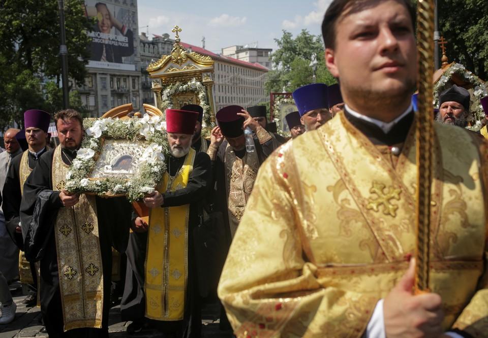 В Киеве прошел Крестных ход в память о крещении Руси князем Владимиром